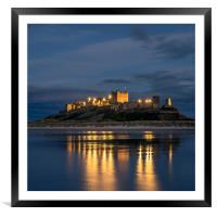 A peach of a Castle, Framed Mounted Print