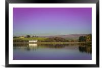 The Wine Press, Hollingworth Lake...Purple Edition, Framed Mounted Print