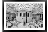 The British Museum London Classic View, Framed Mounted Print