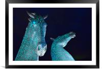 The Kelpies by Andy Scott - Falkirk, Scotland, Framed Mounted Print