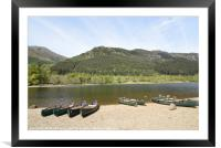 Loch Lubnaig, near Callendar in the Highlands of S, Framed Mounted Print