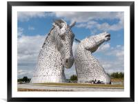 The Kelpies in the Helix park, Falkirk , Framed Mounted Print