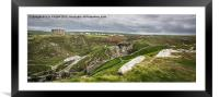 View from Tintagel Castle,Cornwall, Framed Mounted Print
