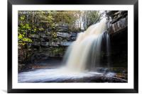 Summerhill Force and Gibson's Cave in Autumn, Framed Mounted Print