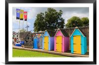 Colourful Bathing Huts, Framed Mounted Print