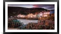 Staithes harbour at sunrise, Framed Mounted Print