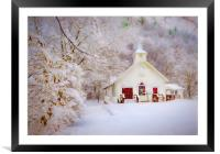 Little Country Church, Framed Mounted Print
