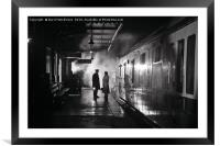 The late train...., Framed Mounted Print
