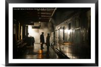 Off the last train, Framed Mounted Print