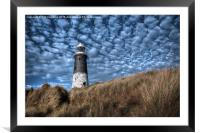 Spurn Lighthouse and Clouds, Framed Mounted Print