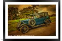 Rolling on Down, Framed Mounted Print
