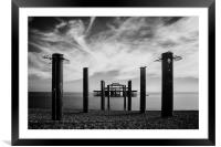 The Old Pier , Framed Mounted Print