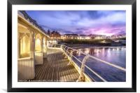 Cromer Pier Victorian Shelters, Framed Mounted Print