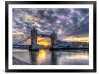 Tower bridge of london, Framed Mounted Print