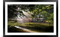 Old steam train, Framed Mounted Print