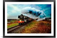 The flying scotsman locomotive, Framed Mounted Print