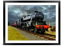 44871 Stainer class black 5 train, Framed Mounted Print