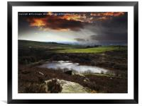 Hillside view deeply vale, Framed Mounted Print