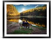 Lakeside view, Framed Mounted Print