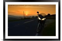 sunset in bowland, Framed Mounted Print