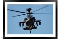Apache Face-0ff, Framed Mounted Print