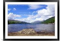 Summers day on Loch Tay, Framed Mounted Print