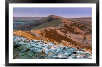 Peak District - Great Ridge in Winter from Mam Tor, Framed Mounted Print