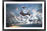Battle of Britain Trio, Framed Mounted Print