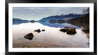 Still Water Over Derwent, Framed Mounted Print