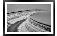The Spillway, Framed Mounted Print
