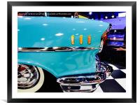 Classic Blue Chevrolet , Framed Mounted Print