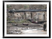Tides out Hayle Harbour , Framed Mounted Print