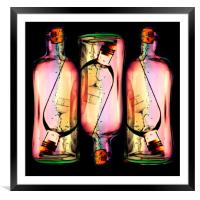 Message In A Bottle, Framed Mounted Print