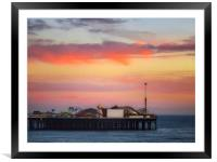 End of the pier Brighton , Framed Mounted Print