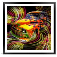 Hot Rod, Framed Mounted Print