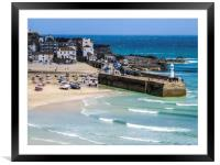 St Ives Cornwall , Framed Mounted Print