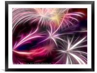 Fireworks ( digital) , Framed Mounted Print