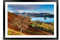 Autumnal Lakeland, Cumbria, England. , Framed Mounted Print