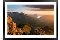 Scafell Pike from Great Gable. English lake Distr, Framed Mounted Print