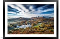 Loughrigg timeless. Lake District., Framed Mounted Print