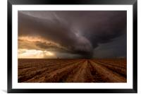 Texas Panhandle, storm clouds over Drought, Framed Mounted Print