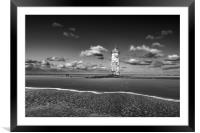 Point of Ayr Lighthouse, Talacre, North wales, Framed Mounted Print