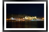 Conwy Castle at night, North Wales, Framed Mounted Print
