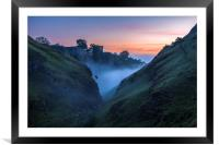 Cave Dale Haunted Dawn, Framed Mounted Print