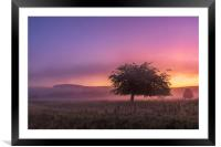 Perry Dale Moody Dawn, Derbyshire Dales., Framed Mounted Print