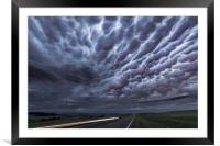 Mammatus clouds over Montana , Framed Mounted Print