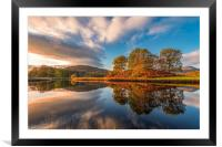 Elterwater Autumn reflections  , Framed Mounted Print