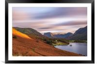 Timeless sunset Crummock Water, Framed Mounted Print