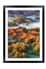 Loughrigg Autumn sunrise , Framed Mounted Print
