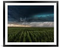 Colorado Windfarm Storm, Framed Mounted Print